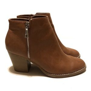 Express Cognac Booties Ankle Boots